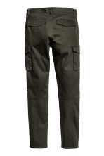 Cargo trousers Slim fit - Dark khaki green - Men | H&M 4