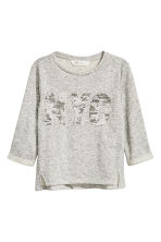 Sweatshirt with a text motif - Grey/New York -  | H&M CN 2