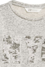 Sweatshirt with a text motif - Grey/New York -  | H&M CN 3