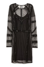 Beaded dress - Black - Ladies | H&M CA 2