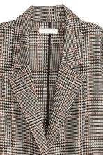 Dogtooth-patterned coat - Light beige - Ladies | H&M GB 3