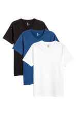 3-pack T-shirts Regular fit - Black/White/Blue - Men | H&M CN 1