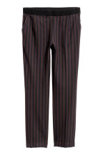 Striped trousers - Black/Striped - Ladies | H&M CN 2