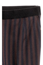Striped trousers - Black/Striped - Ladies | H&M CN 3
