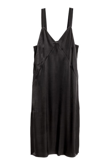 Black dress in h m - Slip Dress Black Ladies H M