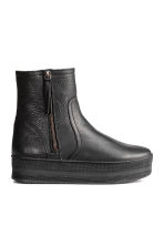 Warm-lined platform boots - Black - Ladies | H&M CN 1