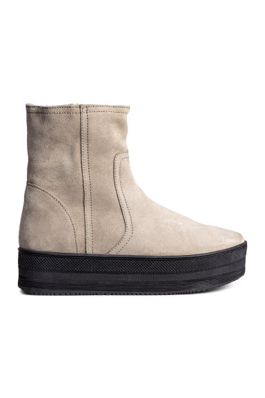 Warm-lined platform boots - Light beige - Ladies | H&M CN 1
