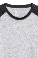Long-sleeved T-shirt - Grey marl - Men | H&M 4