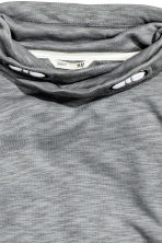 Funnel-collar sweatshirt - Grey marl - Kids | H&M CN 3
