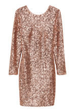 Sequined dress - Gold - Ladies | H&M CN 2