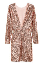 Sequined dress - Gold - Ladies | H&M CN 3