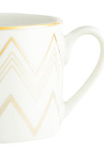 Metallic-print mug - White/Patterned - Home All | H&M CN 3
