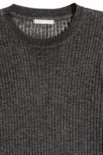 Ribbed top - Dark grey marl - Ladies | H&M GB 3