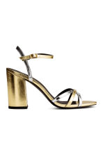 Strappy sandals - Gold/Silver -  | H&M CA 2