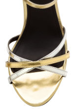 Strappy sandals - Gold/Silver -  | H&M CA 4