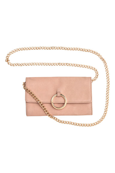 Leather shoulder bag - Powder beige -  | H&M CN