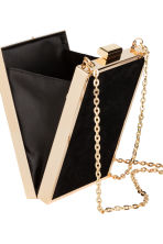 Rigid clutch bag - Black/Gold - Ladies | H&M GB 4