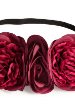 Hairband with flowers - Dark red - Ladies | H&M CN 2