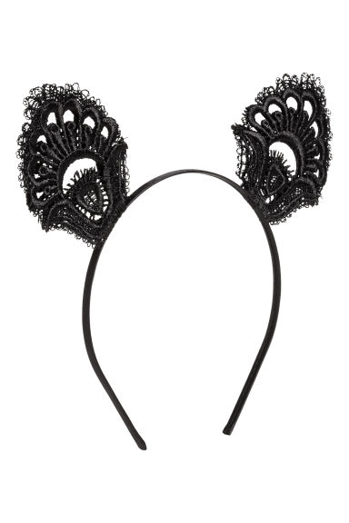 Alice band with ears - Black - Ladies | H&M CN 1