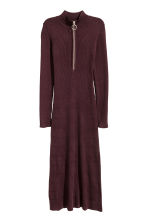 Ribbed dress - Plum - Ladies | H&M CN 2