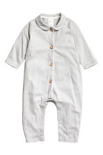 Patterned all-in-one pyjamas - Light grey/Spotted - Kids | H&M CN 1