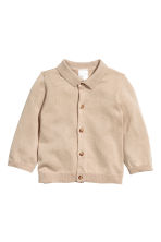 Silk-blend cardigan - Light beige - Kids | H&M CN 1