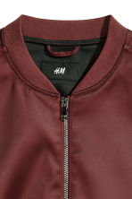 Bomber jacket - Burgundy - Men | H&M CN 3