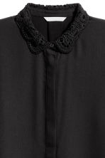 Blouse with embroidered collar - Black - Ladies | H&M GB 3