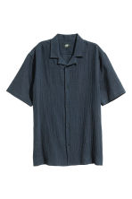 Short-sleeved shirt - Dark blue - Men | H&M CN 2