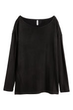 Long-sleeved jersey top - Black - Ladies | H&M 2