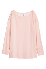 Long-sleeved jersey top - Powder pink - Ladies | H&M CN 2
