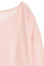 Long-sleeved jersey top - Powder pink - Ladies | H&M CN 3