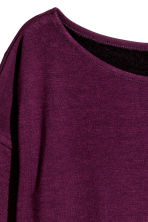 Long-sleeved jersey top - Burgundy - Ladies | H&M CN 2
