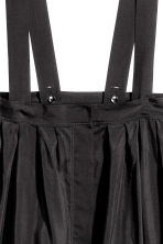 Skirt with braces - Black - Ladies | H&M CN 3