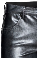 Imitation leather trousers - Dark grey - Ladies | H&M CA 4