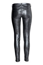 Imitation leather trousers - Dark grey - Ladies | H&M CA 3