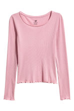 Long-sleeved jersey top - Old rose - Kids | H&M CN 2