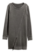 Sweatshirt dress - Black washed out - Ladies | H&M CN 2
