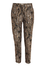 Textured suit trousers - Snakeskin print - Ladies | H&M CN 2