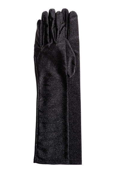 Long gloves - Black/Cat  - Ladies | H&M CN 1