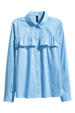 Frilled blouse - Light blue - Ladies | H&M CN 2