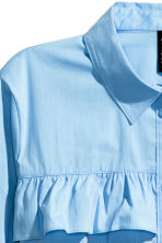 Frilled blouse - Light blue - Ladies | H&M CN 3