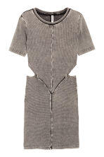 Abito con sezioni aperte - Grigio scuro washed out - DONNA | H&M IT 2