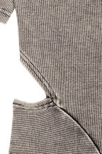 Abito con sezioni aperte - Grigio scuro washed out - DONNA | H&M IT 3