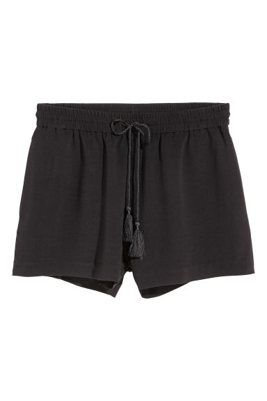 Viscose shorts - Black - Ladies | H&M CN 1