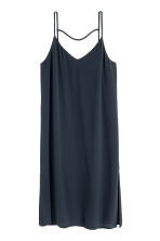 V-neck dress - Dark blue - Ladies | H&M CN 2