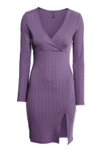 Ribbed dress - Dark purple - Ladies | H&M CN 2