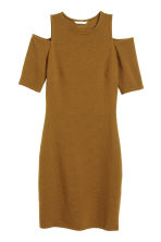 Cold shoulder dress - Dark olive green - Ladies | H&M GB 2