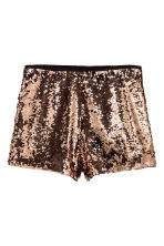 Shorts con paillettes - Dorato - DONNA | H&M IT 2
