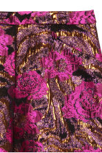 Jacquard-weave shorts - Black/Pink floral - Ladies | H&M CN 3